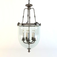 lantern 5 lamps 3d model