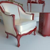 3ds max piermaria graffiti chair