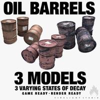 3dsmax oil barrels