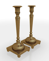 3d model candle sticks