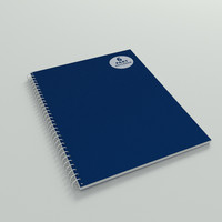 spiral notepad 3d model