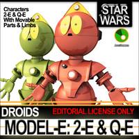 3d star model-e droids 2-e