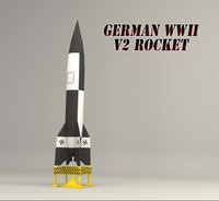 3d german v2 rocket missile