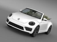 VW Beetle RLine Cabrio 2014