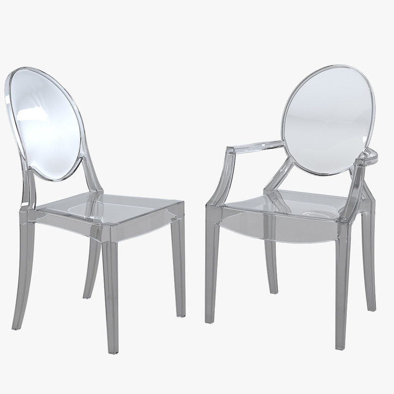 3d Model Kartell Ghost Dining Chair