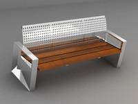urban bench 3d model