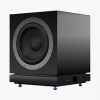 3ds max bowers wilkins db1 subwoofer