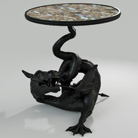 3d model russian table dragon