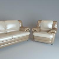 3d viktoria sofa chair