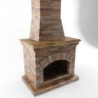 fireplace chimney 3d model