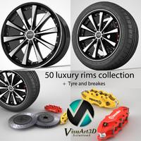 3d model 50 wheel rims