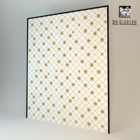 3ds max decorative modern panel