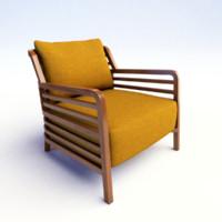 ligne roset flax armchair 3d 3ds
