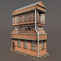 3d model derelict building modeled