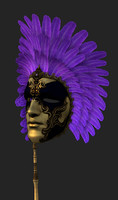 Venetian mask low poly