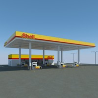 3d shell gas station