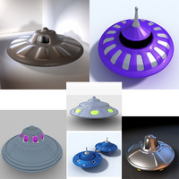 3d spaceships flying saucer alien