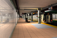 new york subway stations 3d c4d