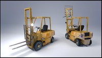 diesel forklift 3d model