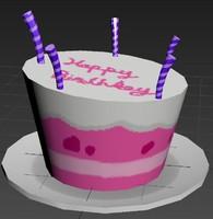 birthday cake obj