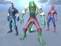 characters spiderman 3d model