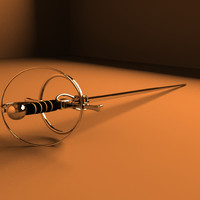 rapier sword obj