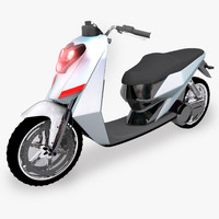 3d model hybrid scooter