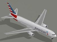 3d model b 767-300 er american
