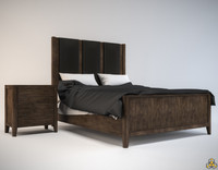 Natural Linga Bed & Nightstand