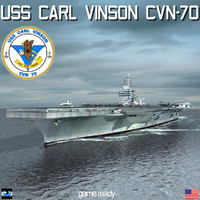 3d uss carl vinson cvn-70 model