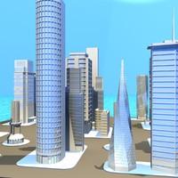 city 3d max