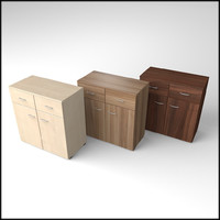 veneered commode 3d 3ds