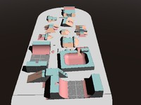 skateboard sets 3d model