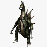 3d model monster gigan