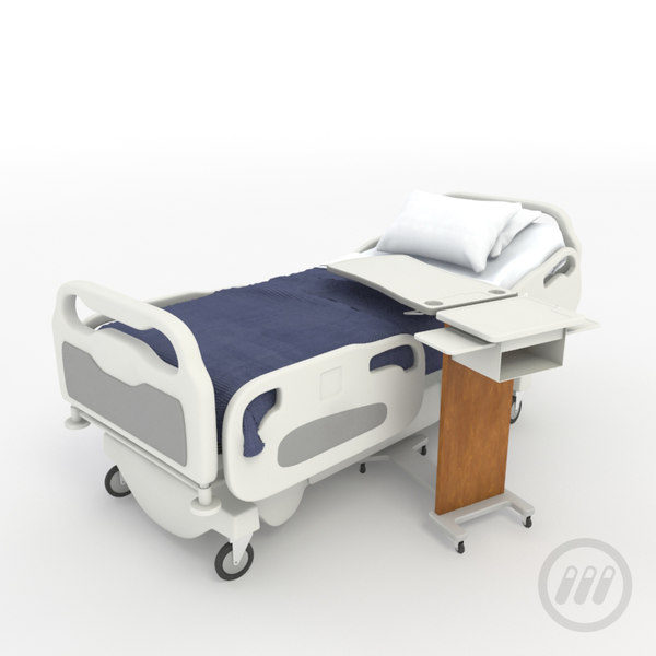 Patient In Hospital Bed : hospital patient bed 3d model - Hospital Bed... by Corgan MediaLab