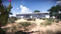 3d model modern residential -
