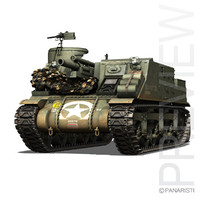 3d m7 priest - howitzer