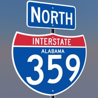 3D Alabama Interstate 359 Signs