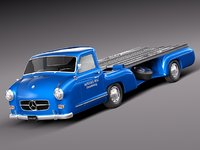3ds max classic antique mercedes truck