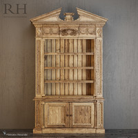 maya entablature bookcase cabinet