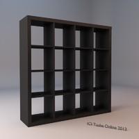 ikea bookshelf 3d model