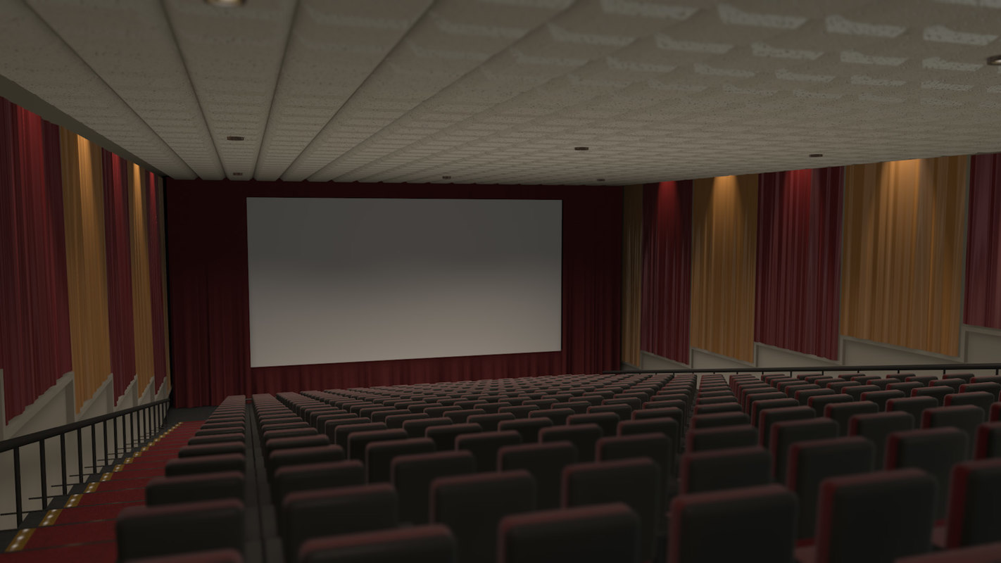 3d model of movie theater stadium seating for Theatre model