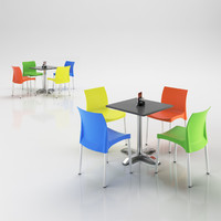 3ds max chairs table