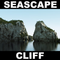 cliff rock landscape 3d max