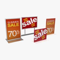 retail display signage 01 3d max