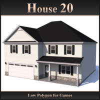 Low Polygon House 20