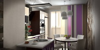 3d model kitchen modern interior