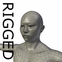 3dsmax rigged base mesh asian man