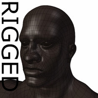 RIGGED Muscular Black Man Base Mesh