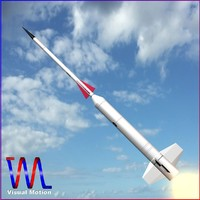 navy sounding rocket nike 3d model